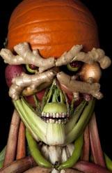 An Organic Warrior.   Food Art by Klaus E